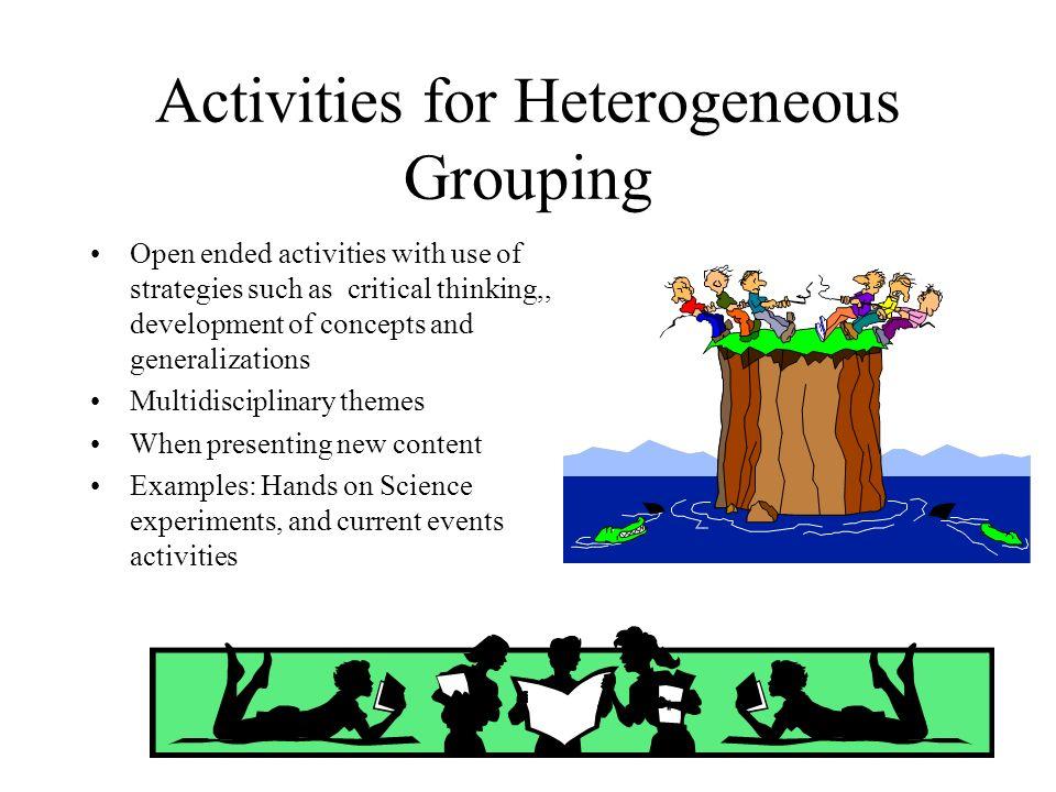 Activities for Heterogeneous Grouping