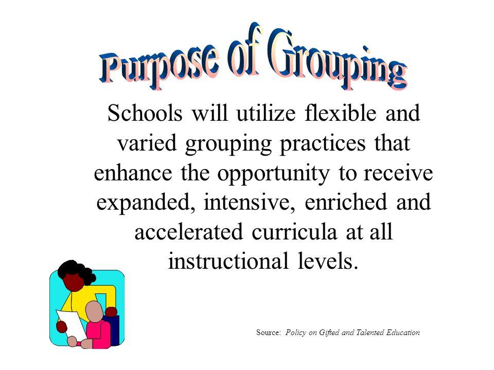 Purpose of Grouping