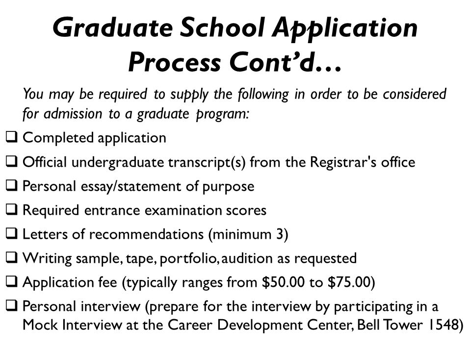graduate program application essay
