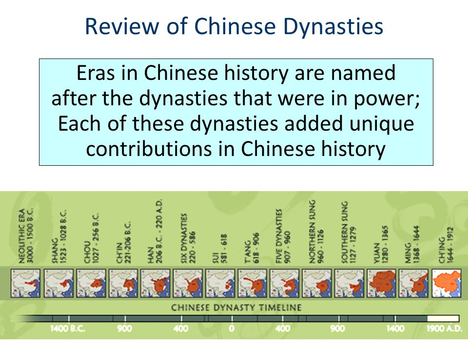 Review of Chinese Dynasties