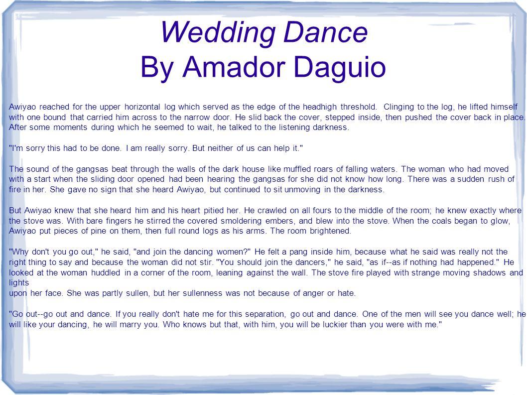 Wedding Dance By Amador Daguio