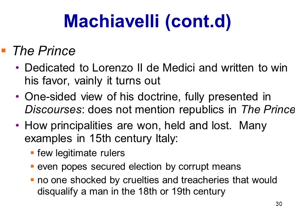 """a review of machiavellis the prince and his doctrine Five hundred years of italian scholarship on machiavelli's  five hundred years of italian scholarship 627  completely opposite """" doctrine to that of the prince."""