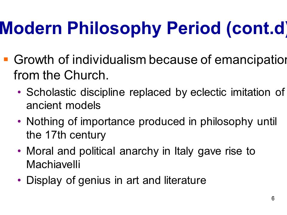 the importance of the modern era of political philosophy essay