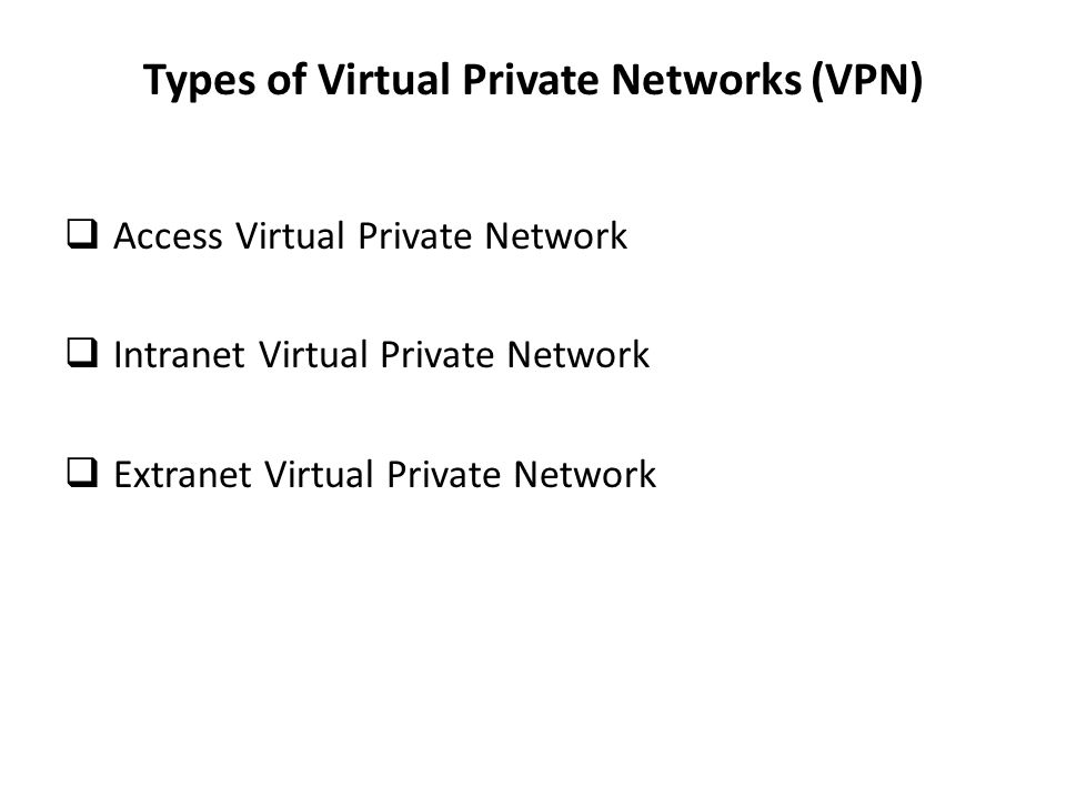 Types of Virtual Private Networks (VPN)
