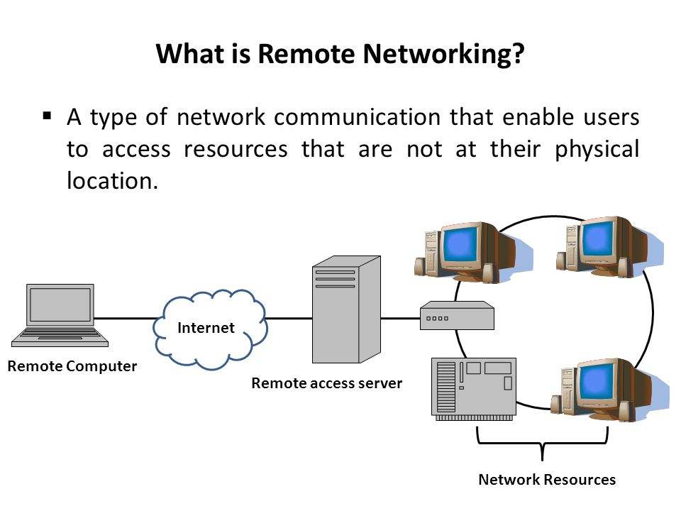 What is Remote Networking