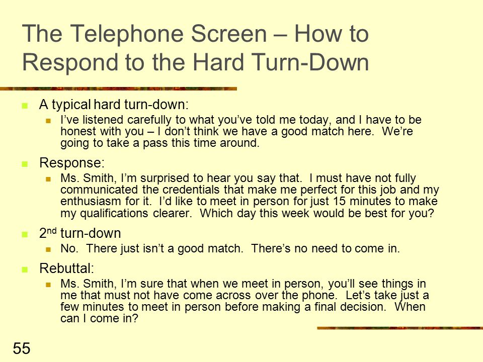 how to turn down a job