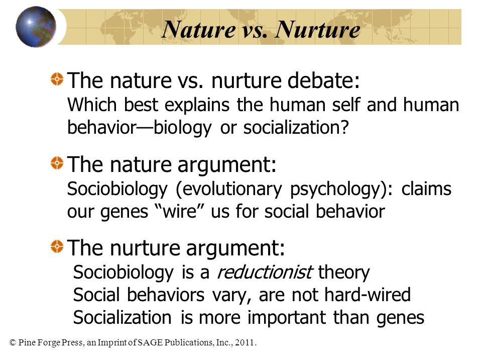 nature versus nurture 2 essay Nature vs nurture essay nature versus nurture seems like forever, since the scientists have started to explore the reasons why some people are born with a good.