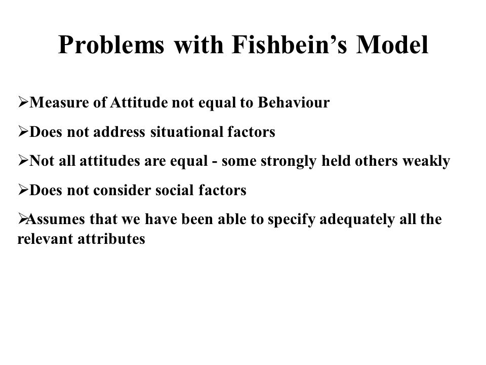 fishbein model consumer behaviour pdf