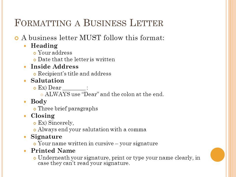 Salutation Letter Three Word Name
