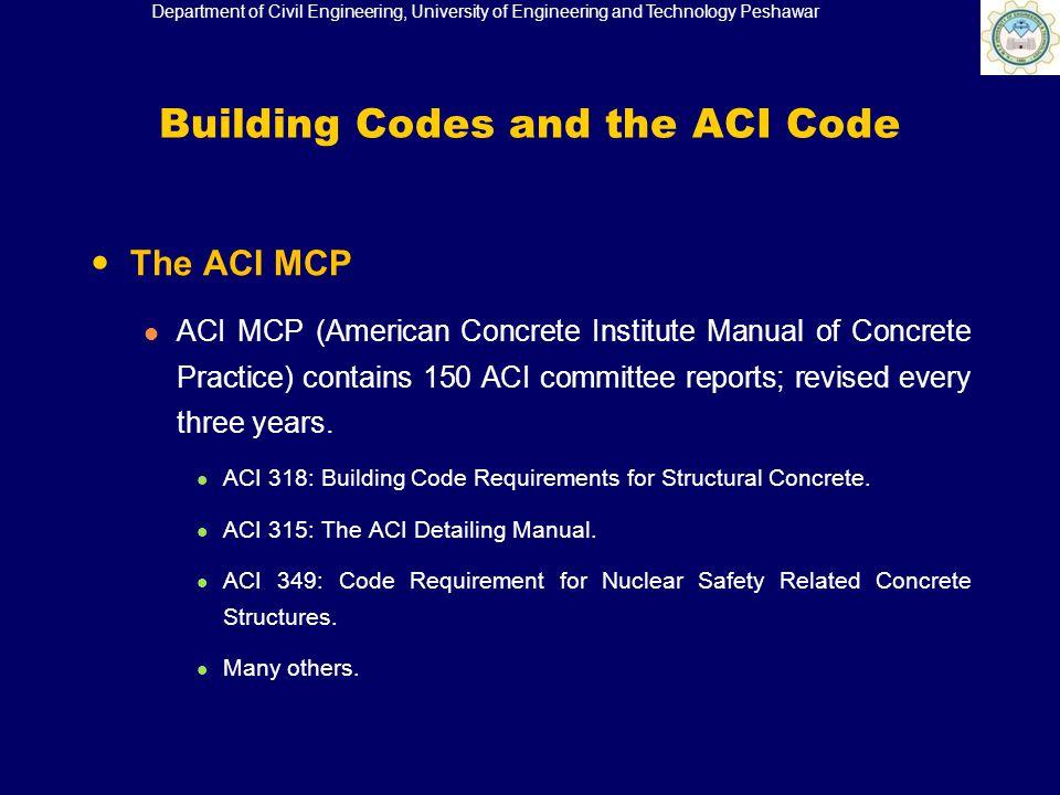 Building Code Requirement For Reinforced Concrete Aci
