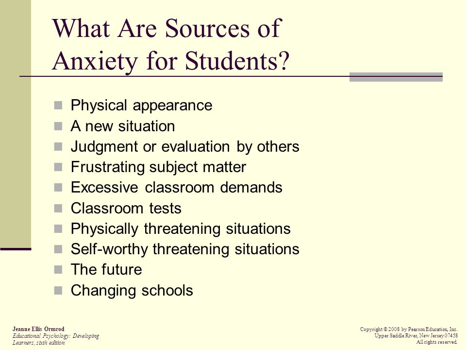 What Are Sources of Anxiety for Students