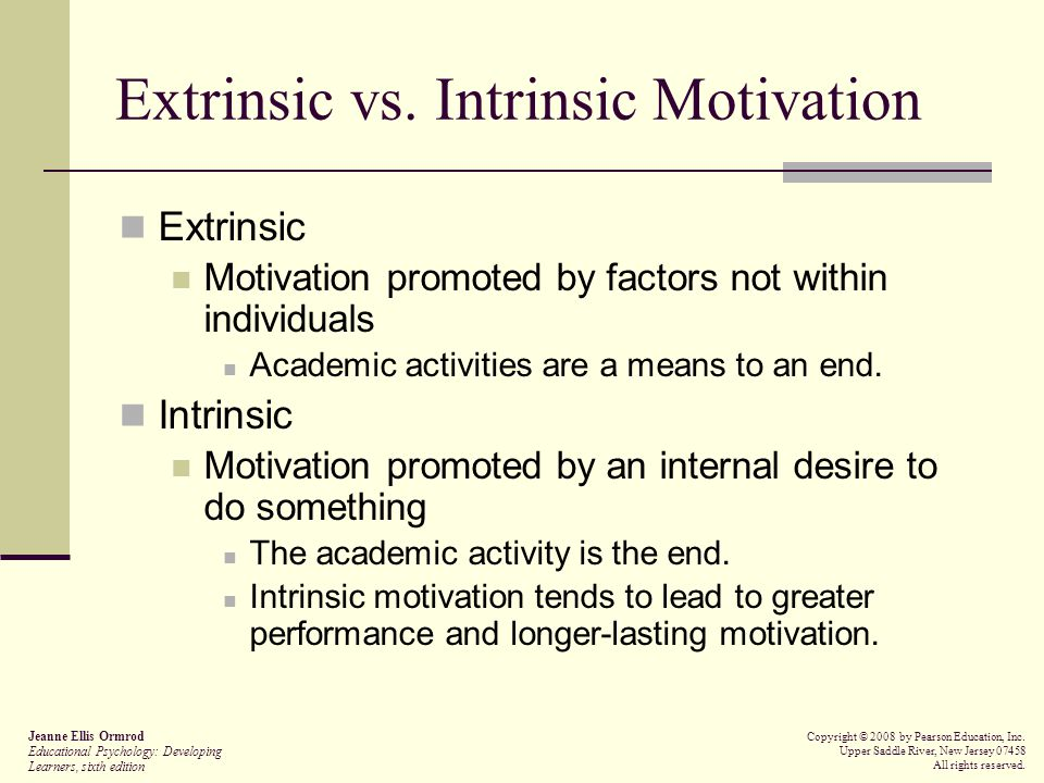 intrinsic reward vs extrinsic reward essays Essays intrinsic vs extrinsic motivation intrinsic vs extrinsic these external rewards may be enough to motivate an individual to initially take part in.