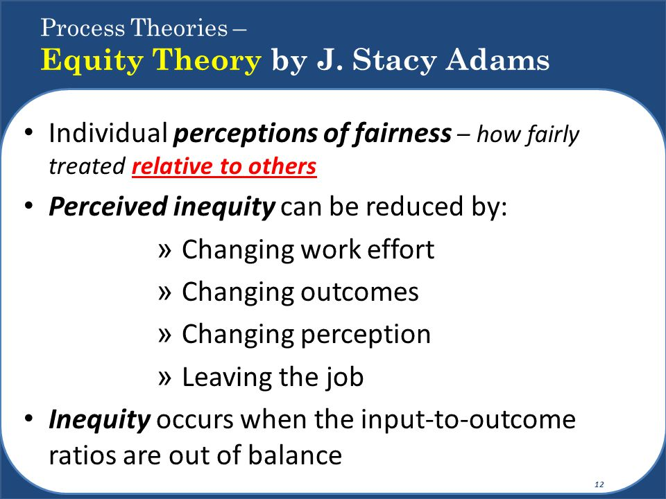 Process Theories – Equity Theory by J. Stacy Adams