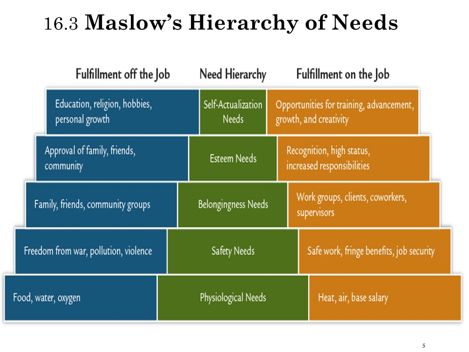 16.3 Maslow's Hierarchy of Needs