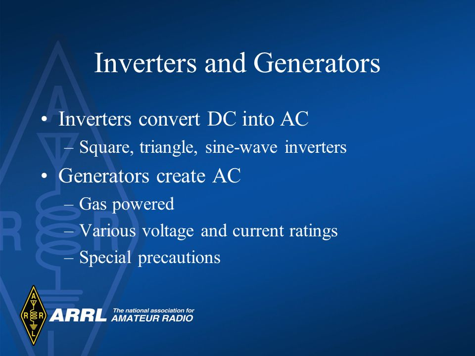 Inverters and Generators