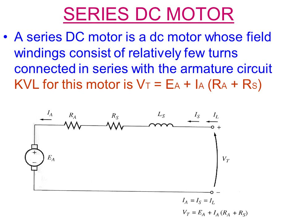 Series Dc Motor on Dc Motor Field Windings
