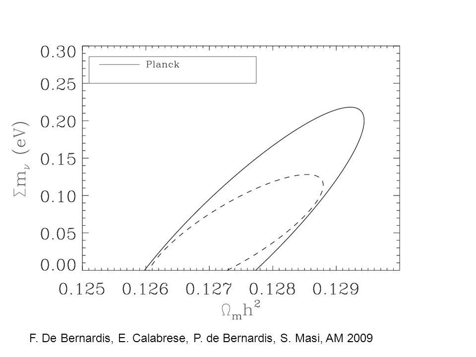 F. De Bernardis, E. Calabrese, P. de Bernardis, S. Masi, AM 2009