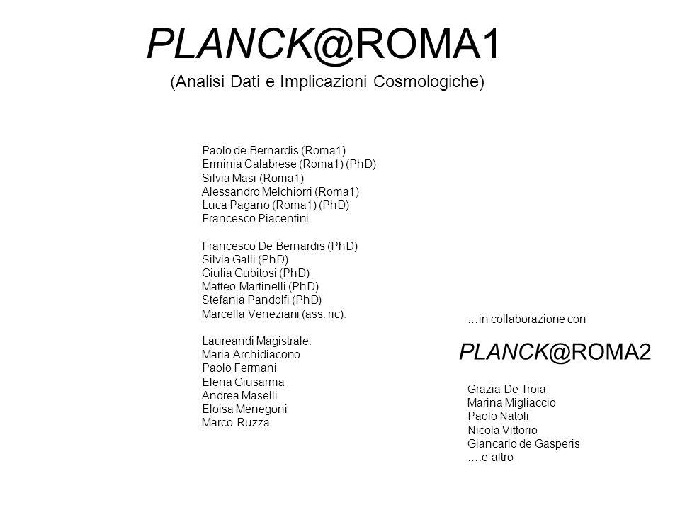 PLANCK@ROMA1 PLANCK@ROMA2 (Analisi Dati e Implicazioni Cosmologiche)