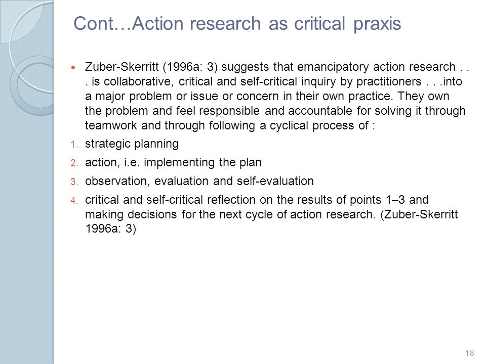 critical action research Action research: exploring the theoretical divide between practical and critical action research will provide new insights into action research].