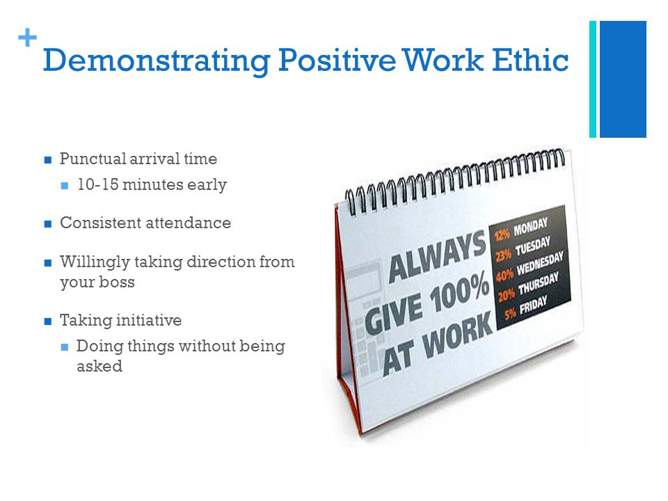 3 demonstrating positive work ethic - Taking Initiative In The Workplace