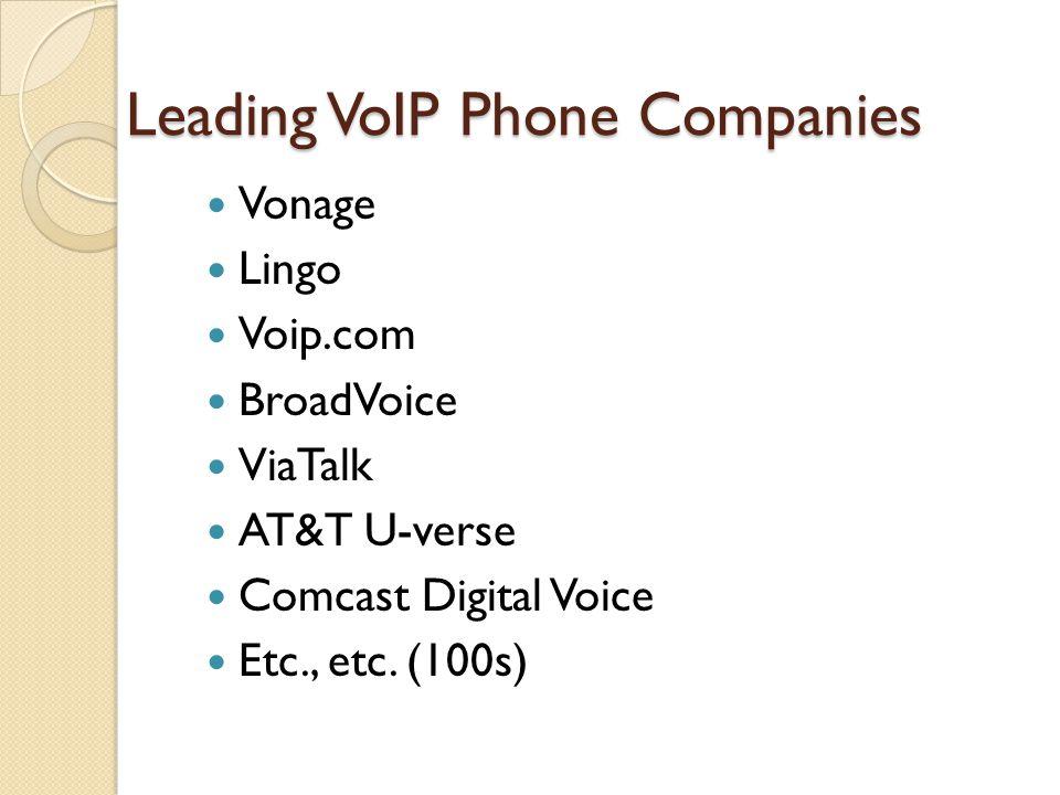 Leading VoIP Phone Companies