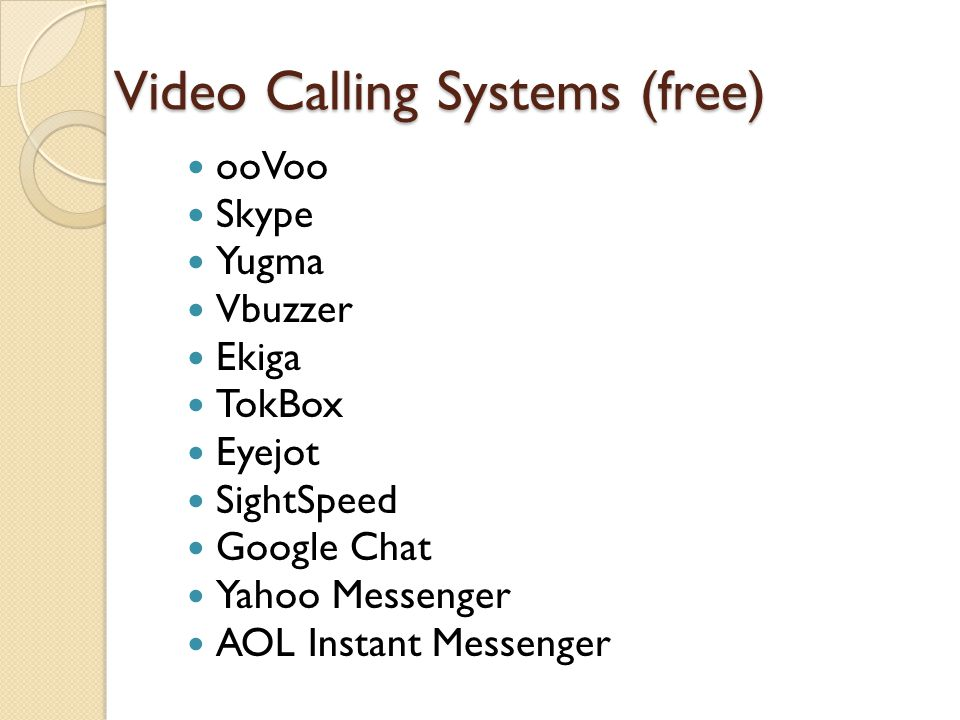 Internet phone video services ppt video online download 13 video calling reheart Image collections