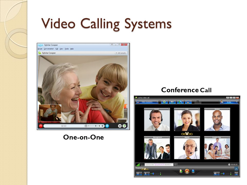 Video Calling Systems Conference Call One-on-One