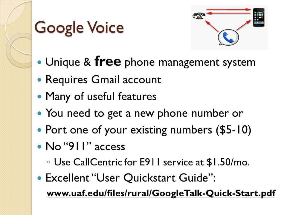 Google Voice Unique & free phone management system