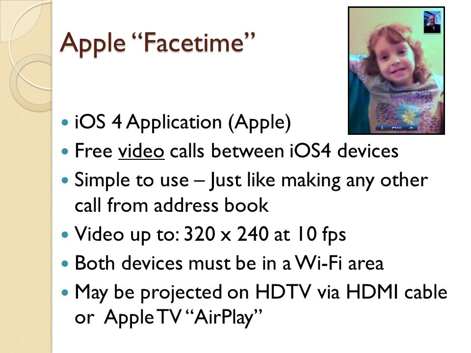 Apple Facetime iOS 4 Application (Apple)