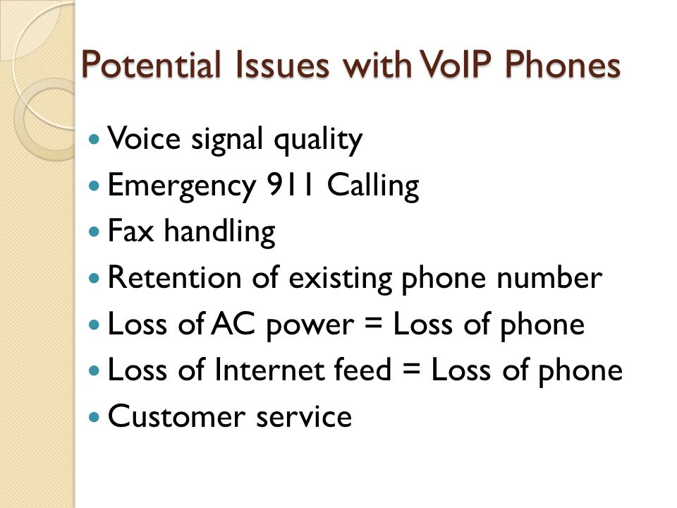 Potential Issues with VoIP Phones