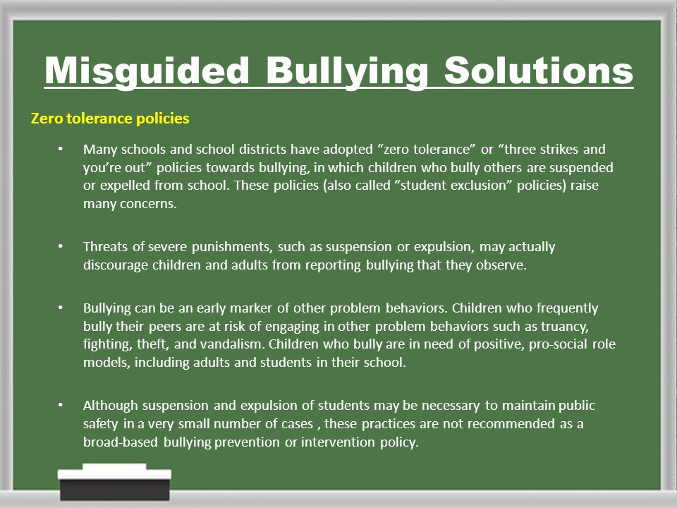 zero tolerance policy in school districts Like other school districts across the country that adhere to a policy of zero  tolerance without discretion, pinelands regional's policy violates.