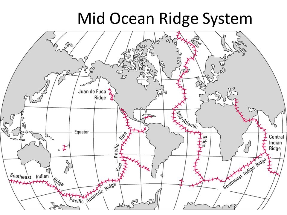 Geology unit 1 plate tectonics ppt download 52 mid ocean ridge system gumiabroncs Images