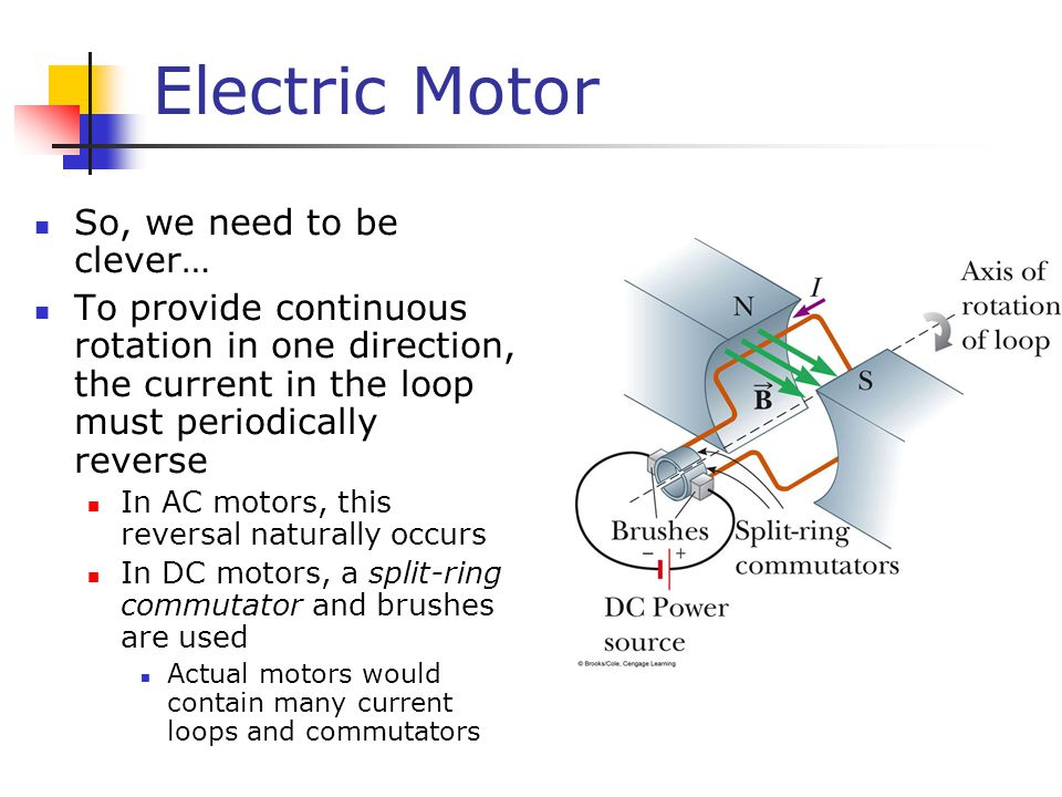 Electric Motor So, we need to be clever…