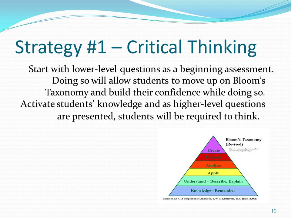 "critical thinking strategies Using technology to develop students' critical thinking skills what is critical thinking 7 responses to "" using technology to develop students."