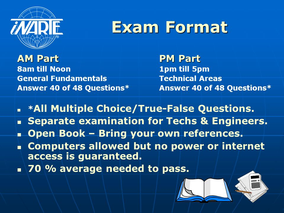 Exam Format AM Part PM Part