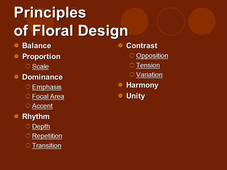 Principles Of Design List : Elements principles of floral design ppt video online