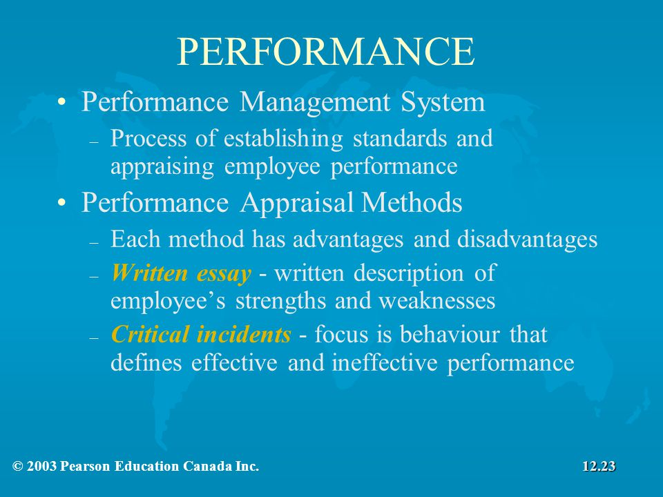 performance management appraisal system essay
