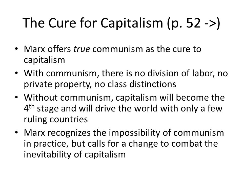 The Cure for Capitalism (p. 52 ->)
