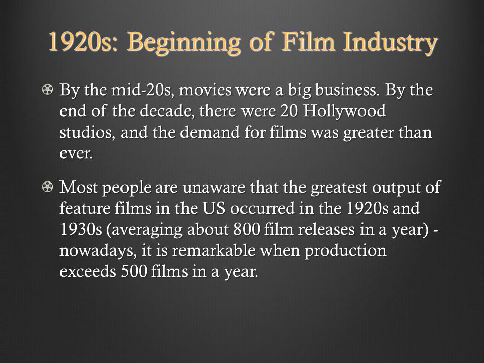 Movies About The 1920s: Ppt Video Online Download