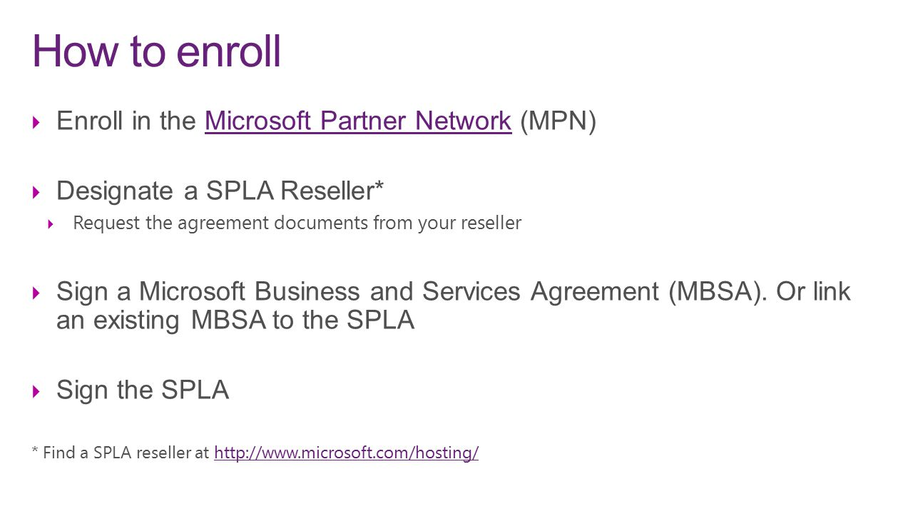 Microsoft Services Provider License Agreement Ppt Video