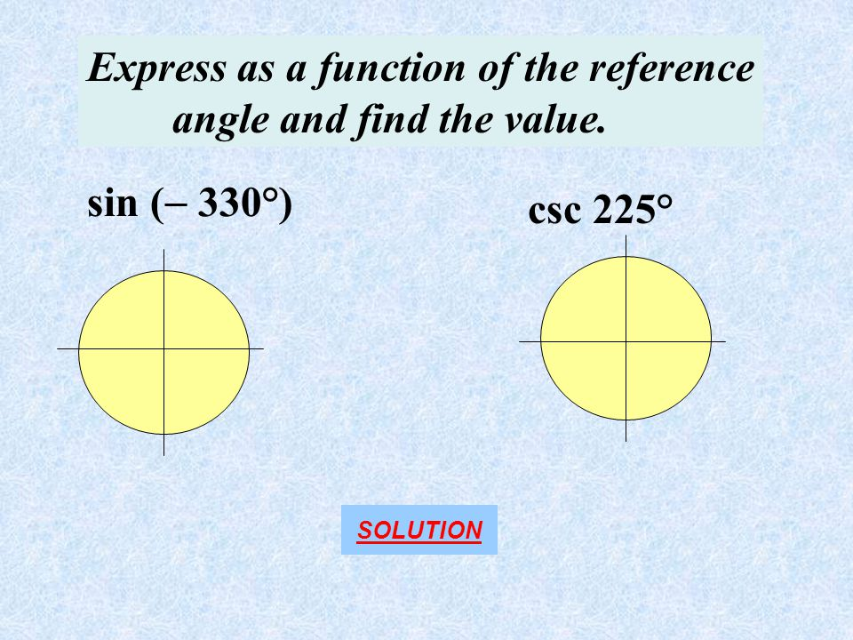how to find reference angle of degrees