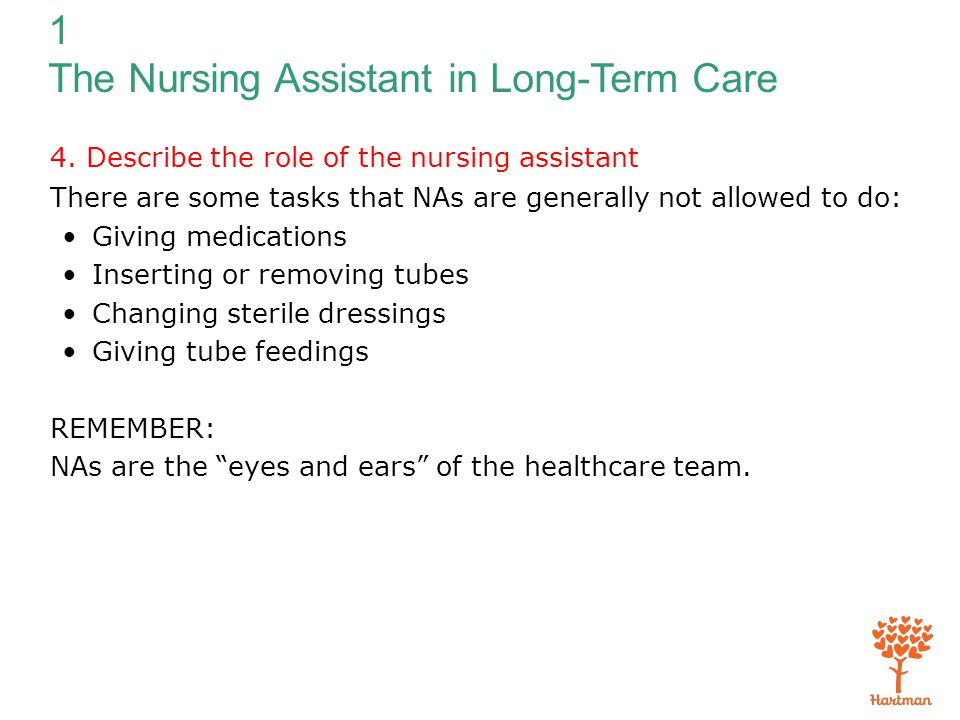 duties and responsibilities of a cna certified nursing assistant