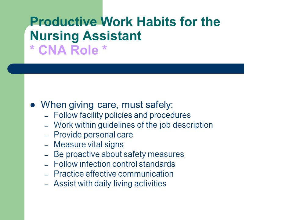 Certified Nursing Assistant  Ppt Video Online Download