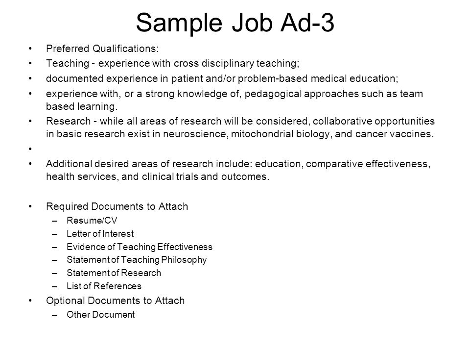 Preparing for the Academic Job Search ppt video online download