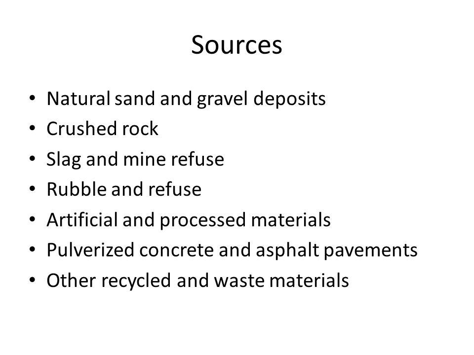 Slag Sand And Gravel : Aggregates chapter ppt video online download