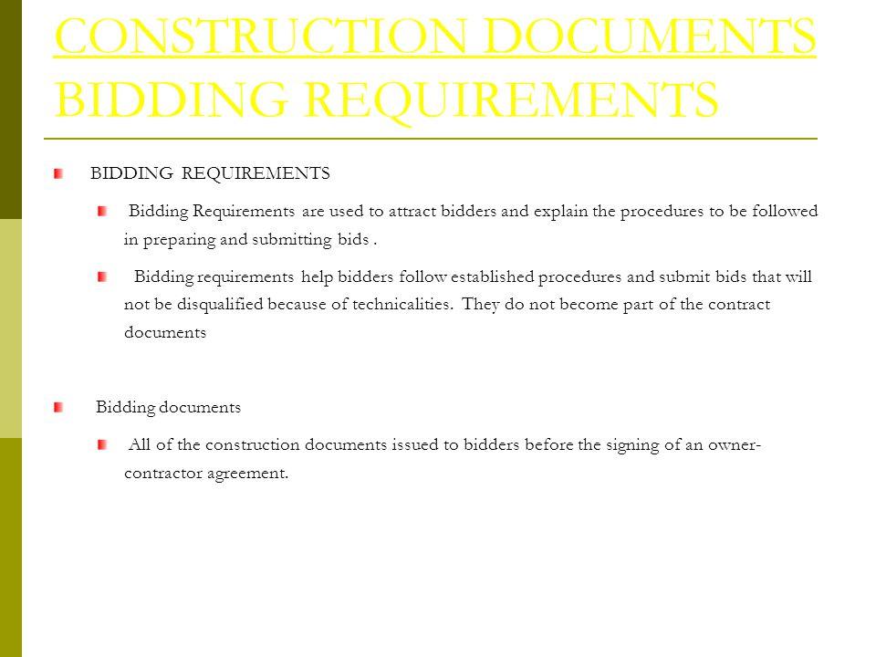 construction bids online