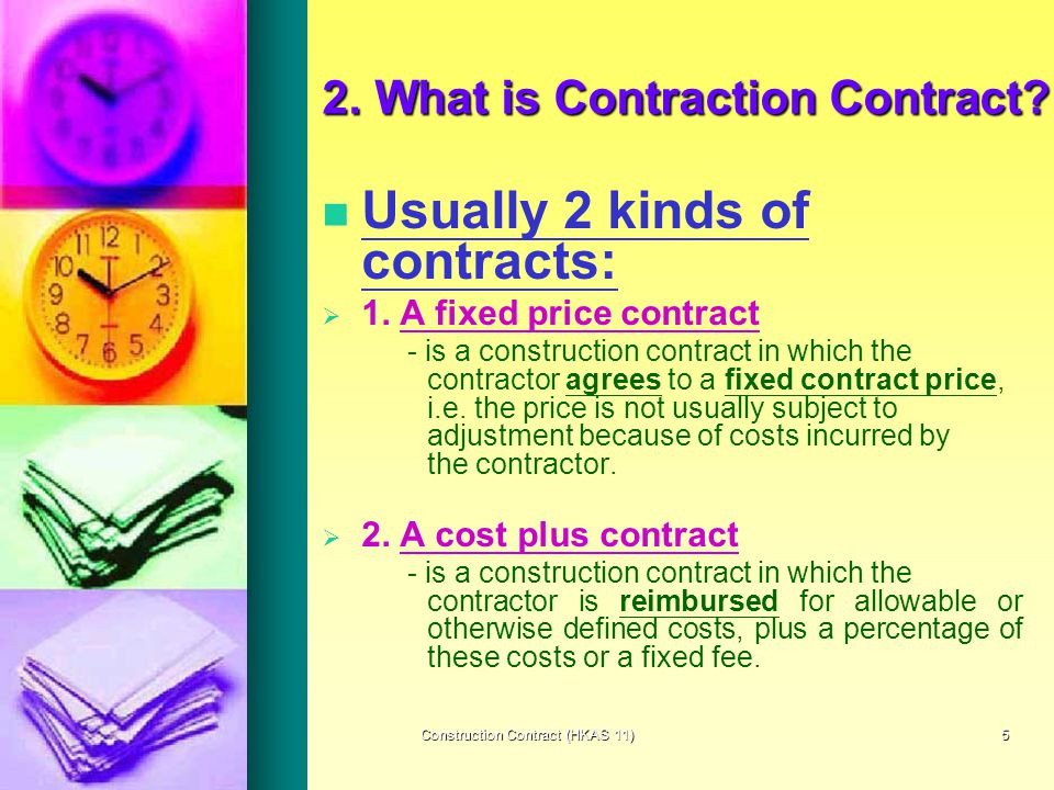 Construction contracts ppt video online download for Cost plus building contract