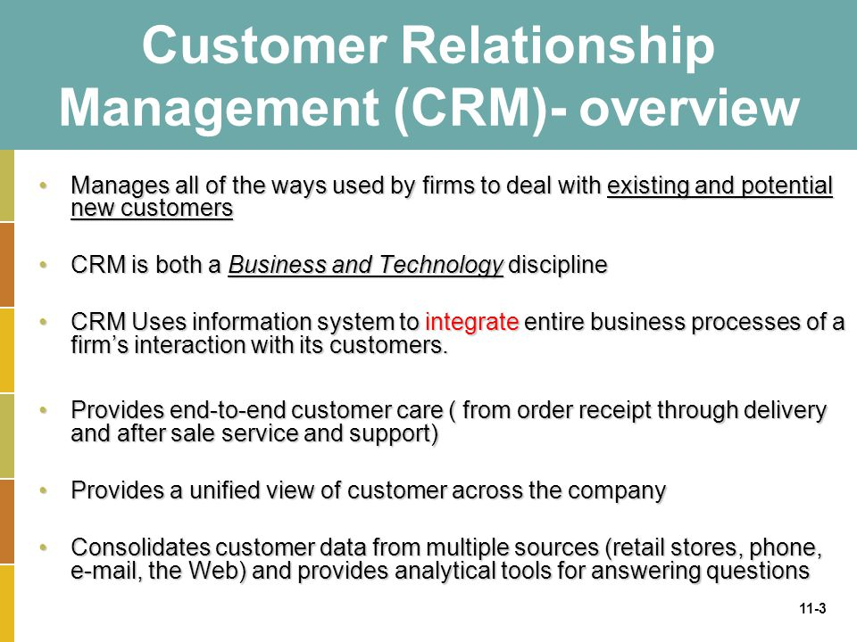 Chapter 11 Building A Customer Centric Organization