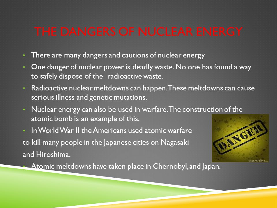 the dangers of a nuclear reactor Not as dangerous as the other substances it's releasing  the earthquake- and  tsunami-damaged fukushima daiichi nuclear plant the plutonium is thought to  come from partially melted fuel rods in one of the plant's reactors.