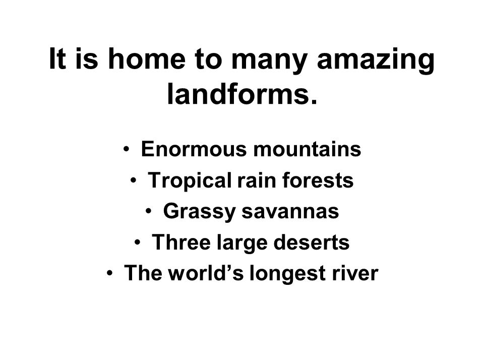 Did You Know Africa Is The Worlds Secondlargest Continent - The world's second longest river is on what continent